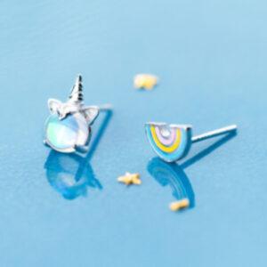 Cercei model unicorn argint 925