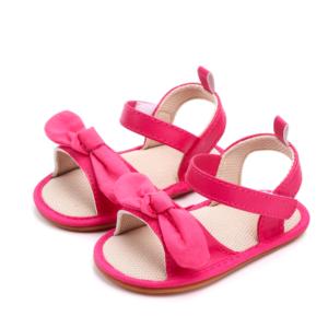 Sandale roz cu fundita