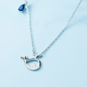 Lantisor argint 925 pandantiv balena