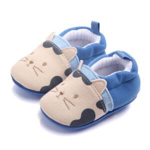 Papucei albastri model pisicuta