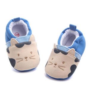 Papucei albastri model pisicuta fata